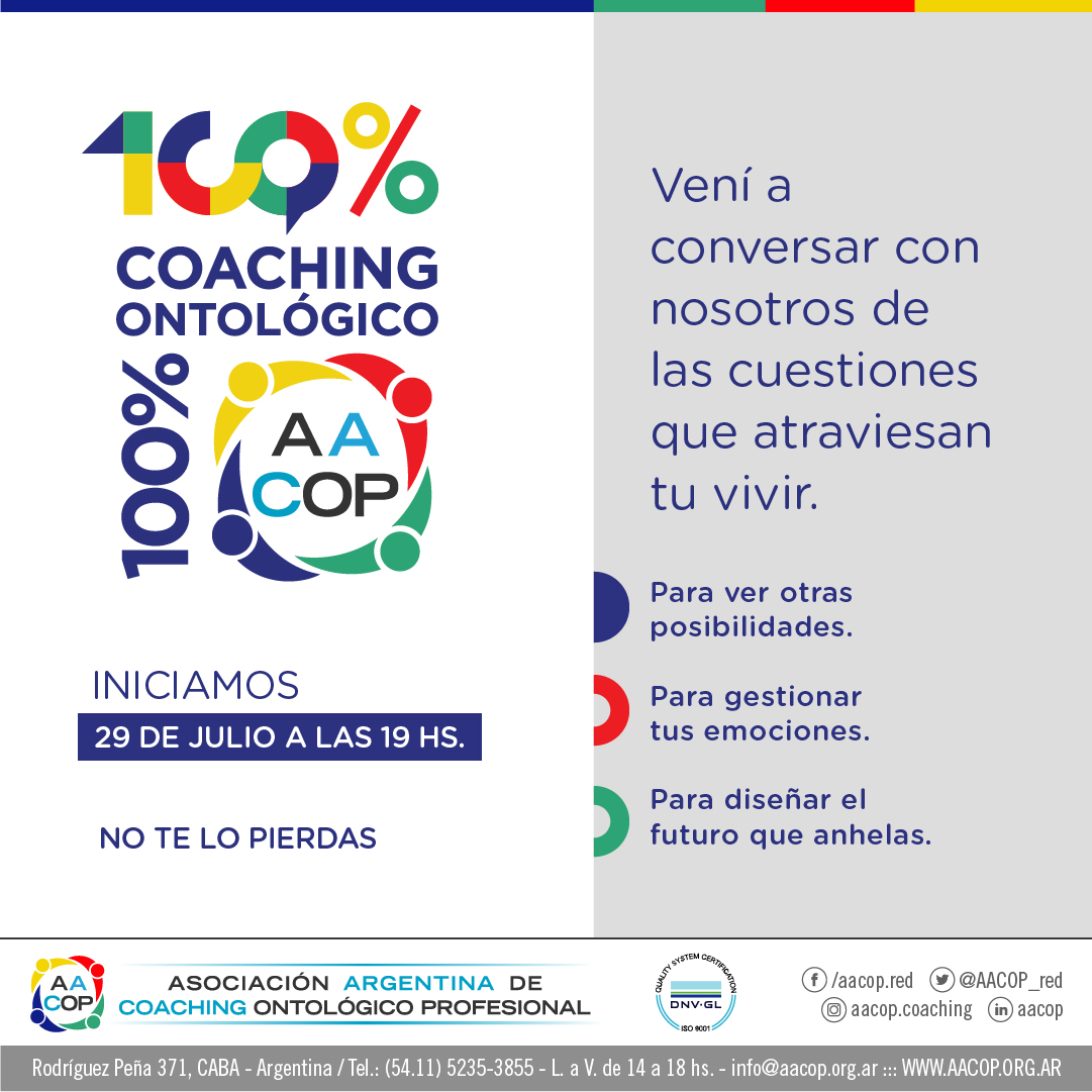 100% Coaching Ontológico 100% AACOP | imagen