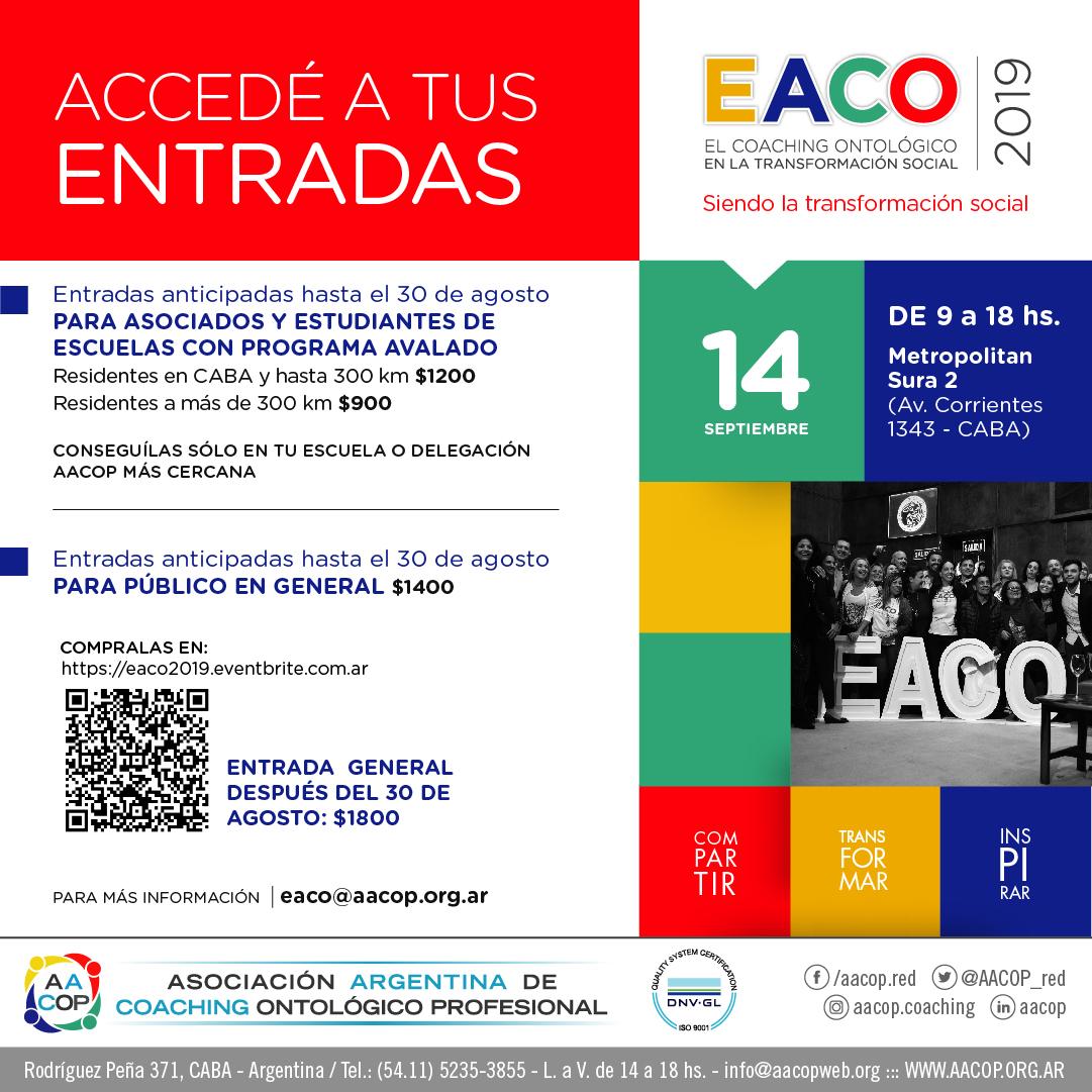 Accedé a tus entradas de EACO 2019 | imagen