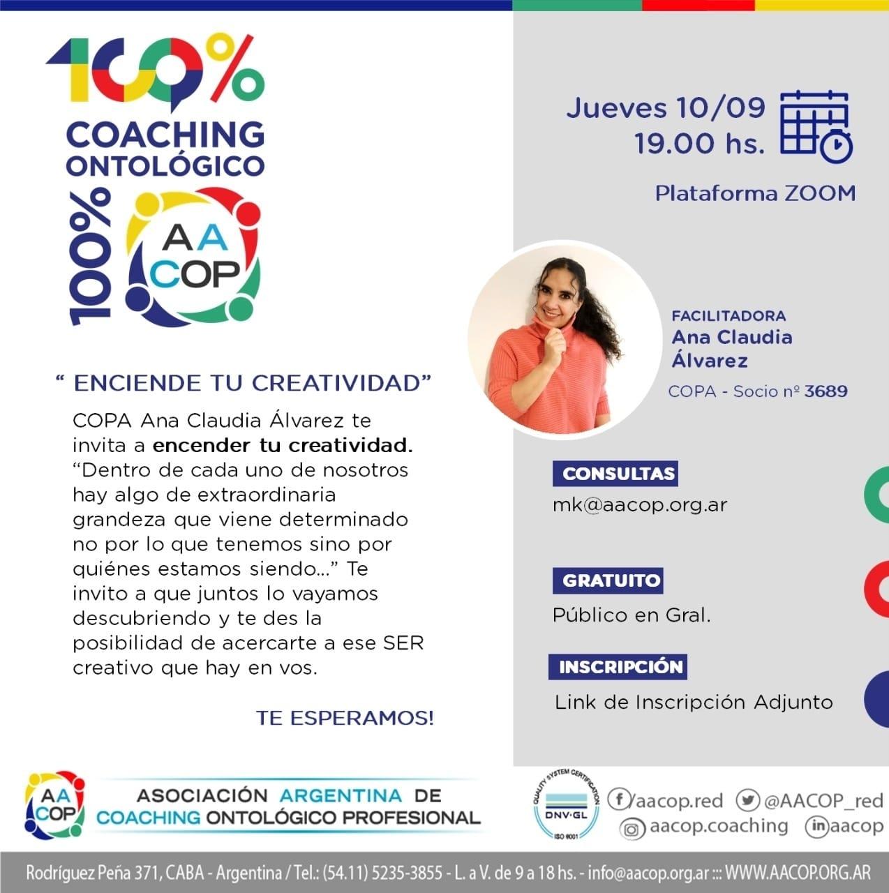 Enciende tu creatividad. Entrevista a Ana Claudia Alvarez. | imagen