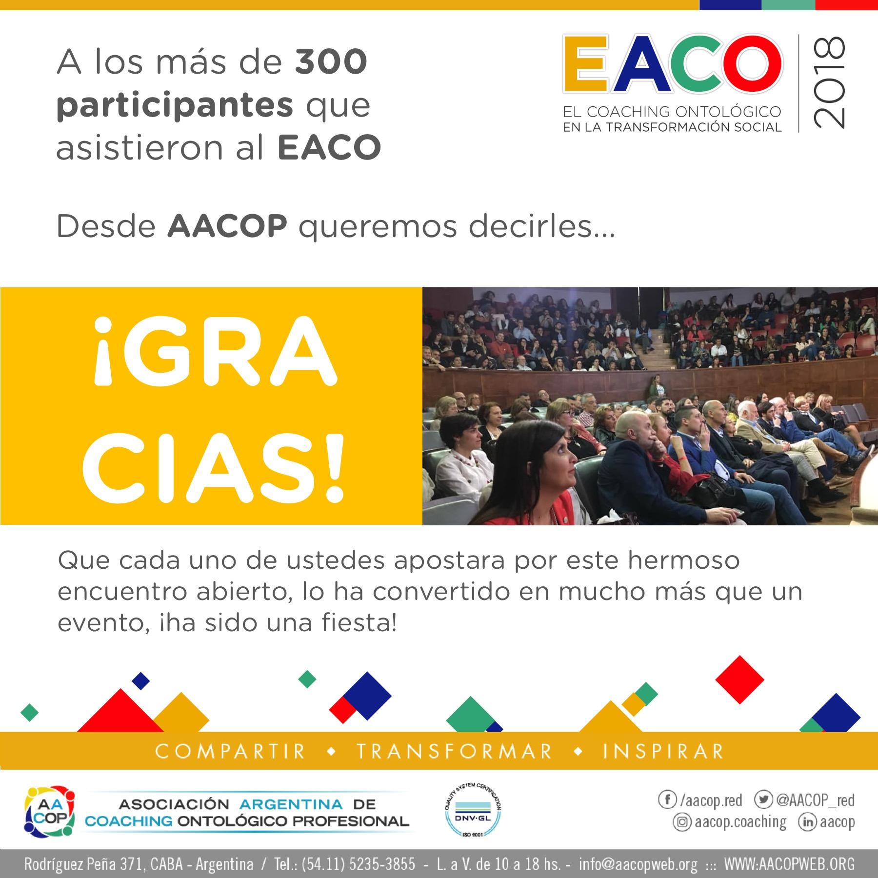 Muchas, muchas ¡¡Gracias!! por este maravilloso EACO 2018 | imagen 1